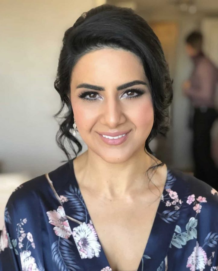 smokey bridesmaid makeup wedding Sydney